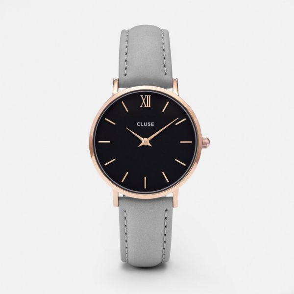 Cluse Minuit Rose Gold Black/Grey