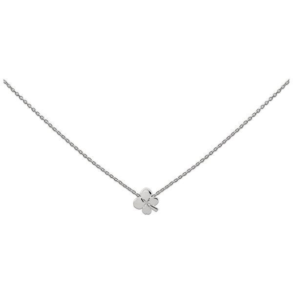 Silberkette mit Kleeblatt (925)