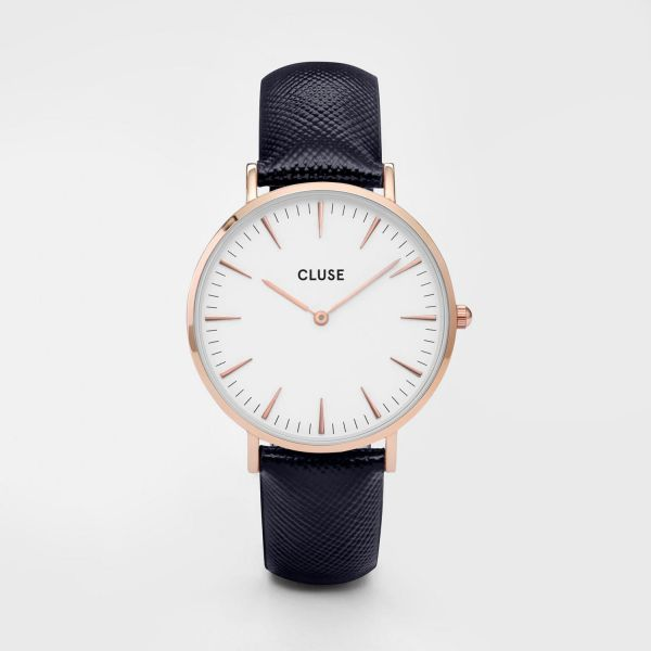 Cluse La Bohèm Rose Gold White/Midnight Blue
