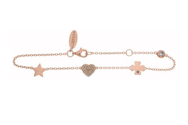 Armband mit Herz, Stern & Kleeblatt