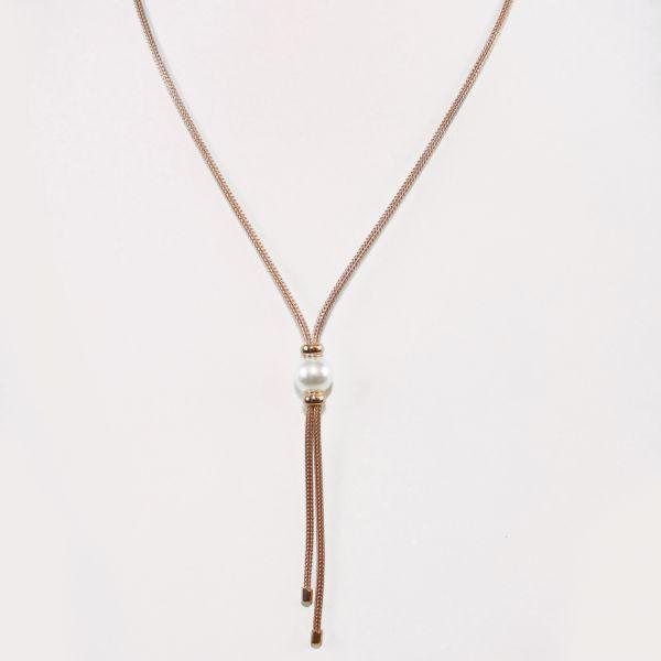 Y-Collier mit Perle (925)