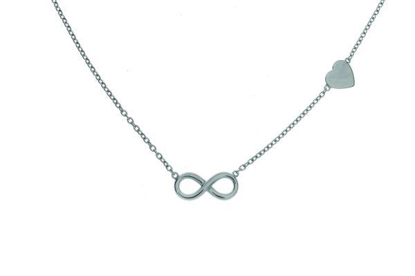 Collier mit Infinity-Symbol und Herz
