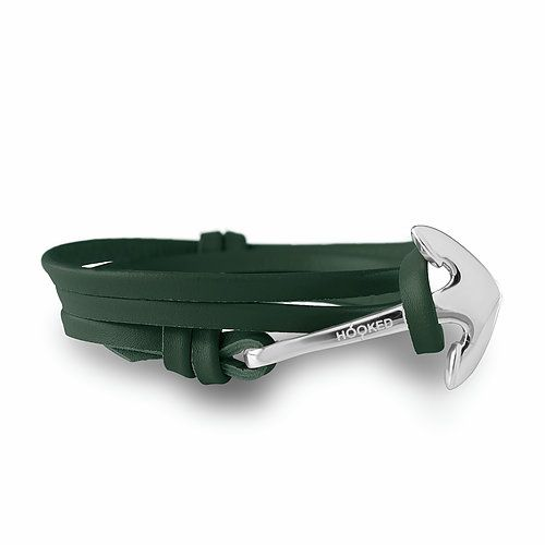 Hooked Anchor + leather straps (Army Green)