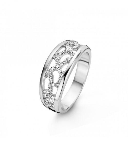 Silber Ring mit Zirkonia (925)