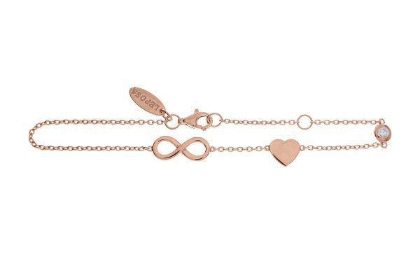 Armband Infinity, Herz & Zirkonia