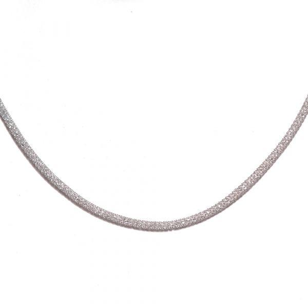 Collier aus Stahlgeflecht