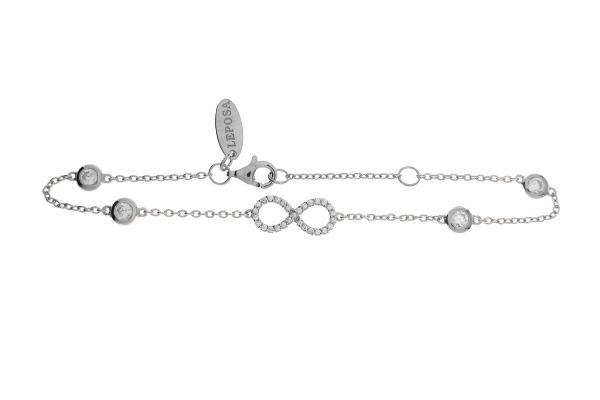 Armband Infinity & Zirkonia