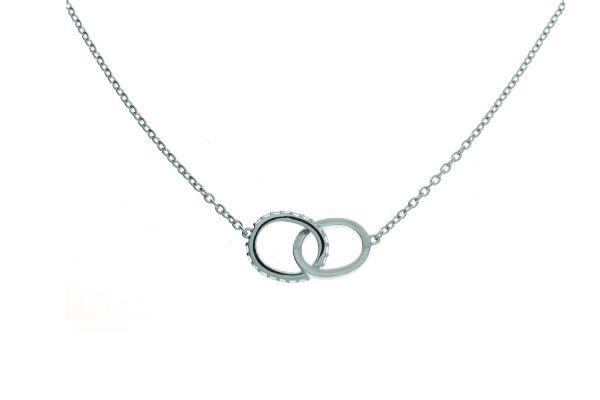 Collier mit Ringen und Zirkonia