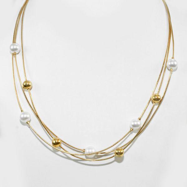 Collier mit Perlen (925)