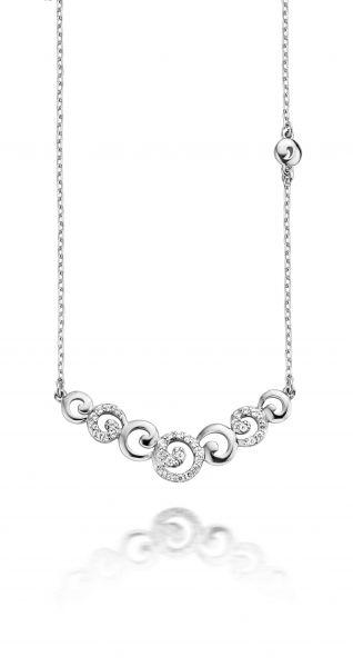 Silberkette mit Zirkonia (925)