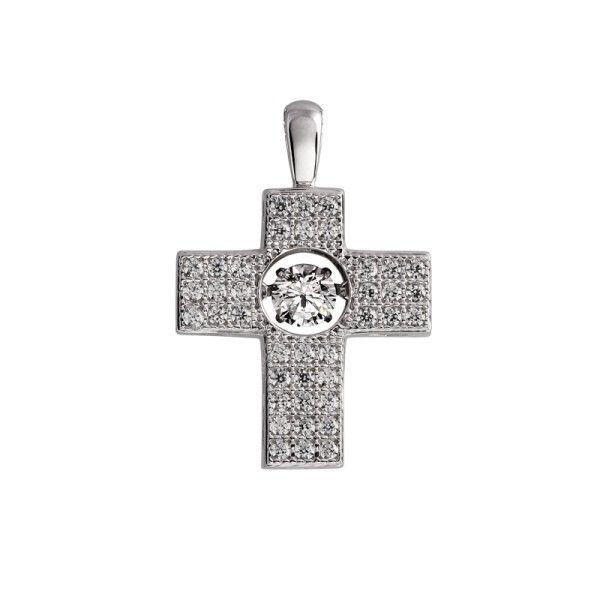 Diamonfire Kreuz (925)