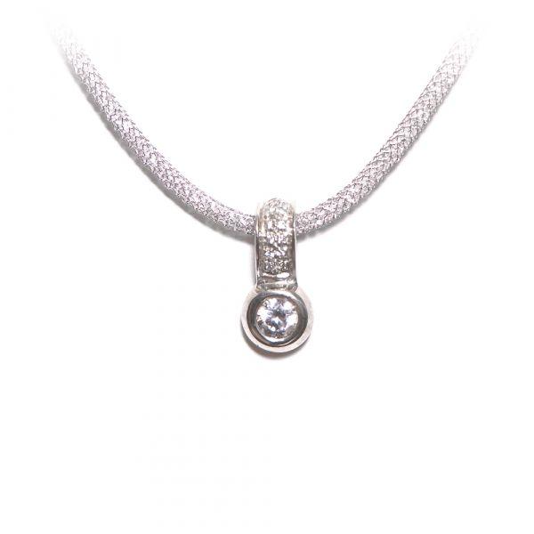 Silberanhänger mit Zirkonia (925er)