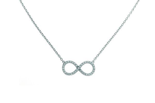 Collier mit Infinity-Symbol und Zirkonia