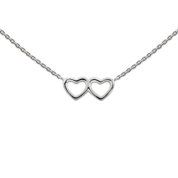Silberkette mit Herzen (925)