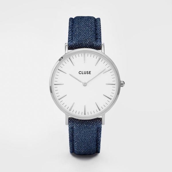 Cluse La Bohèm Silver White/Blue Denim