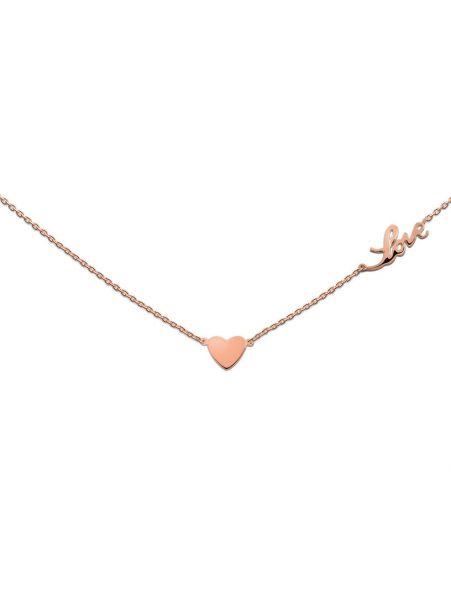 Silberkette mit Herz und LOVE (925)