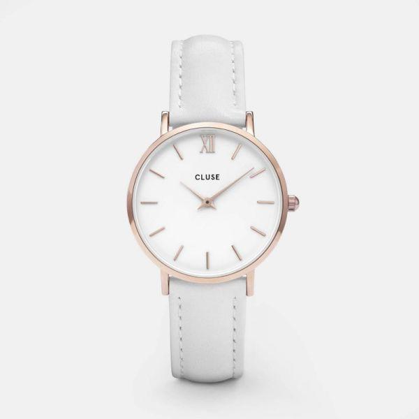 Cluse Minuit Rosegold White/White