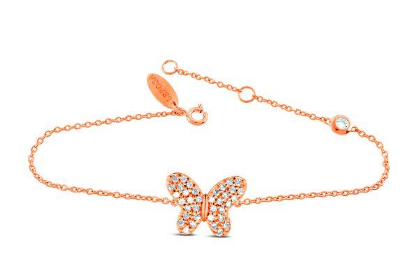 Armband mit Schmetterling & Zirkonia
